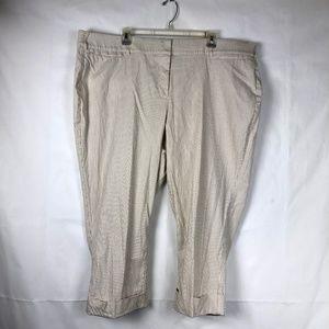 LANE BRYANT Lena Women Pants Capri Stripe 73E